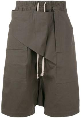 Rick Owens drawstring drop-crotch shorts