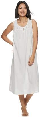 Croft & Barrow Petite Lace-Trim Nightgown