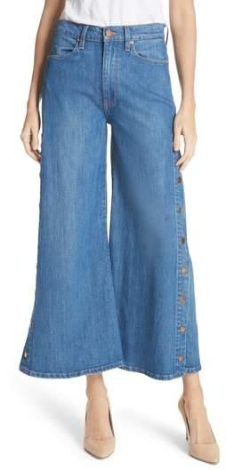 AO.LA Gorgeous Snap Side Crop Flare Jeans