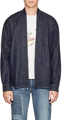 Visvim Men's Denim Kimono Shirt - Dk. Blue