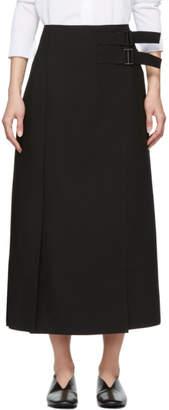 Studio Nicholson Black Double Belted Quilt Skirt