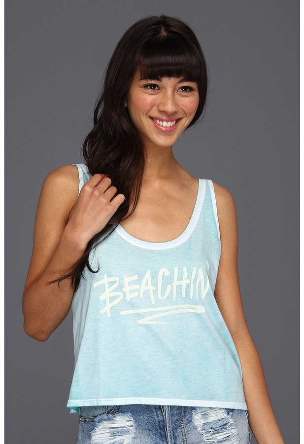 Billabong Beachin' Tank Top (Mo-Mint) - Apparel