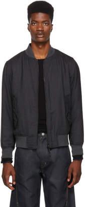 Rag & Bone Reversible Grey Wool Bomber Jacket