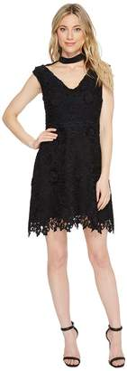 Laundry by Shelli Segal Cap Sleeve V-Neck Fit Flare Dress Women's Dress