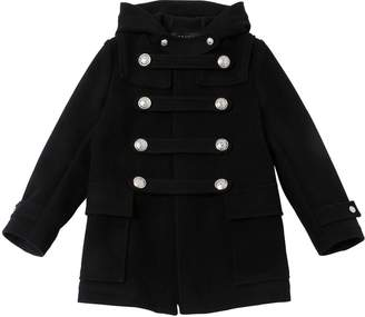Balmain Doubled Breasted Wool Felt Coat