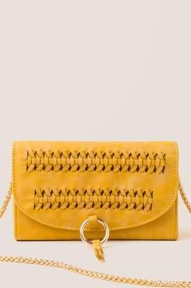 francesca's Carys Whipstitch Wallet Crossbody - Mustard