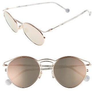 Women's Dior Origin 53Mm Sunglasses - Cold/ Copper