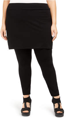Eileen Fisher Plus Size Pull-On Skirt Leggings