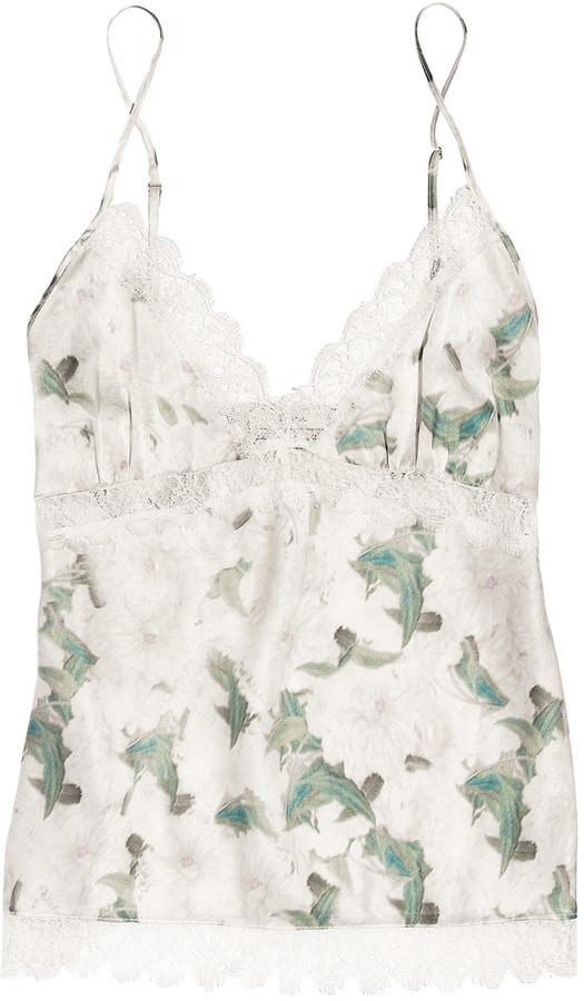 Erdem Rosie floral-print silk-satin camisole