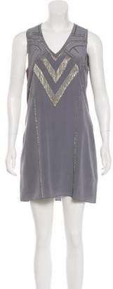 Ramy Brook Embellished Silk Mini Dress