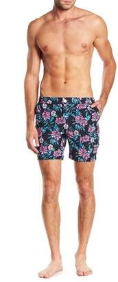 Trunks Mosmann Australia Malolo Tropical Floral Print Swim Shorts