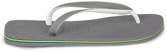 Topman HAVAIANAS Grey and White Flip Flops