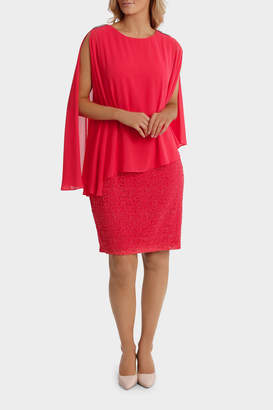 Lace Dress With Soft Overlay