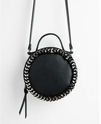 Express chain detail circle crossbody bag