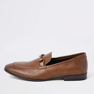River Island Brown snaffle loafers