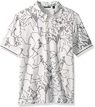 Perry Ellis Men's Big and Tall Printed Floral Polo