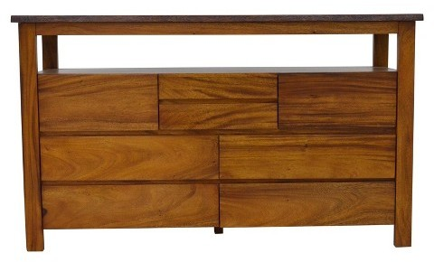 222 Fifth 222 Fifth Cayu Live Edge 8 Drawer Dresser - Brown