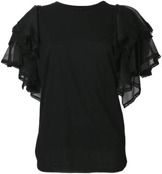 Twin-Set tulle sleeve T-shirt