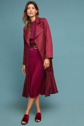 Anthropologie Cabernet Trench Coat