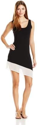 Calvin Klein Women's Colorblock Asymmetrical Dress Cover Up