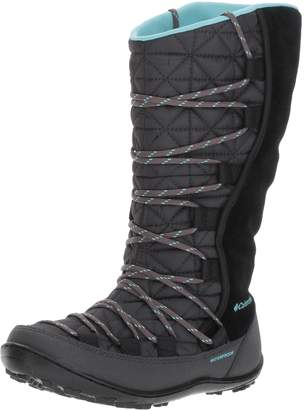 Columbia Girls' Loveland Omni-Heat Waterproof Tall Winter Boot Black 5 M US