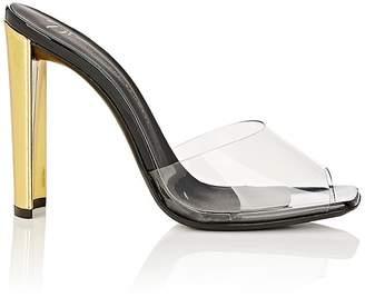 Giuseppe Zanotti Women's Ada PVC & Patent Leather Mules $650 thestylecure.com