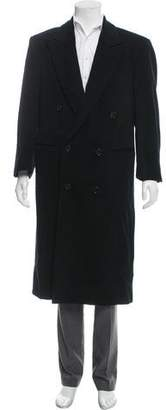 Giorgio Armani Peak-Lapel Wool Overcoat