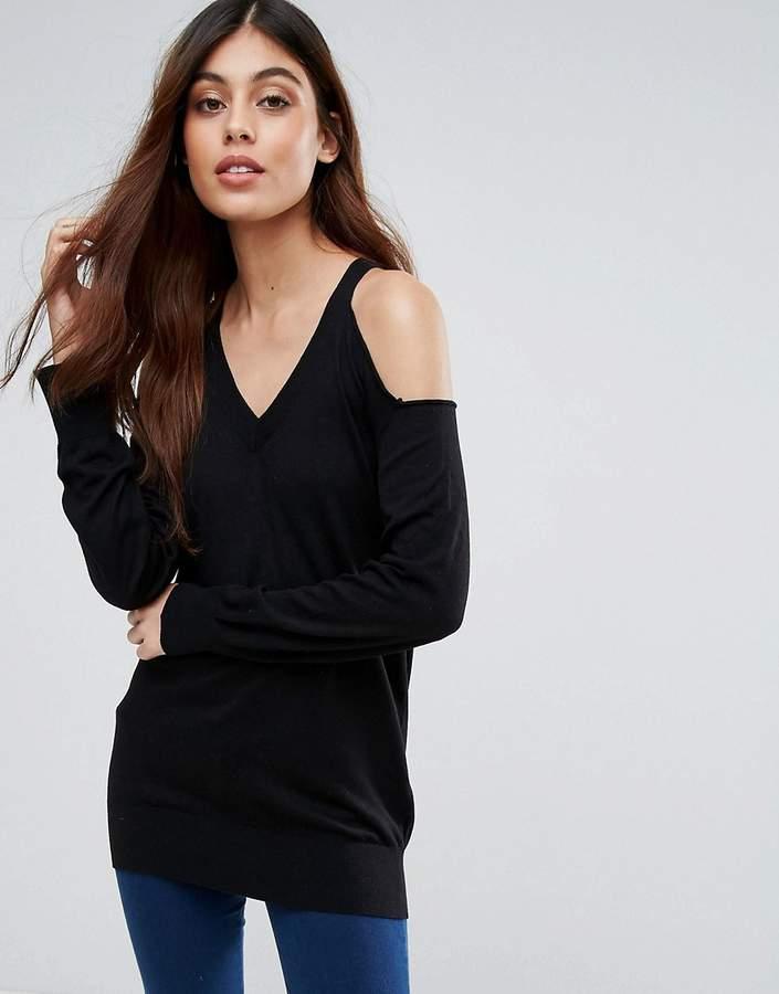 Warehouse Cold Shoulder Sweater
