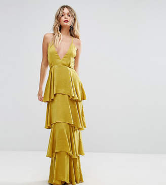 Missguided Tiered Ruffle Maxi Dress