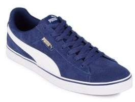 Puma Vulc Round Toe Lace-Up Sneakers