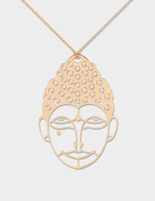 ginette_ny Buddah 18-karat rose gold necklace