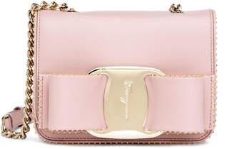 Salvatore Ferragamo Vara Rainbow light pink bag