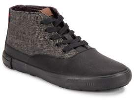 Ben Sherman Herringbone Textured Lace-Up Style Sneakers