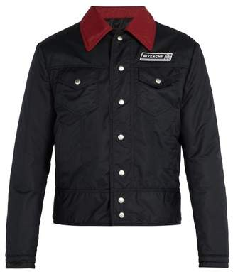 Givenchy Contrast Collar Shell Jacket - Mens - Black