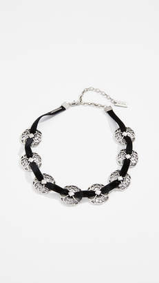 Marc Jacobs Multi Lacy Medallion Choker Necklace