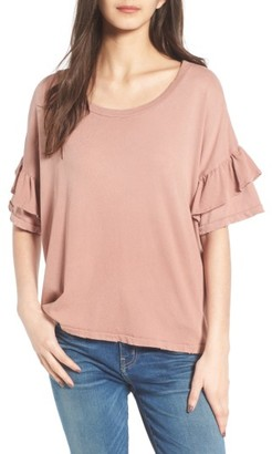 Women's Current/elliott The Ruffle Roadie Tee $118 thestylecure.com