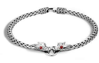 John Hardy Naga Silver Dragon-Head Bracelet