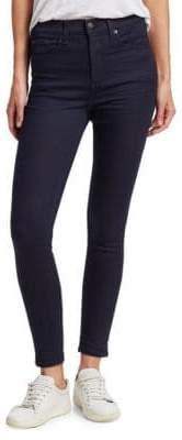 Rag & Bone Super Dark Wash High-Rise Ankle Skinny Jeans