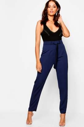 boohoo Woven Satin Slimline Trousers
