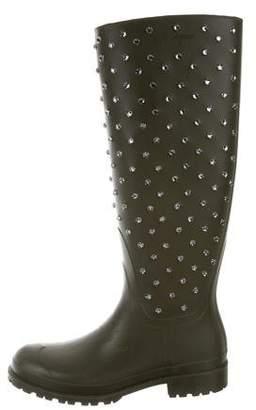 Saint Laurent Embellished Rain Boots