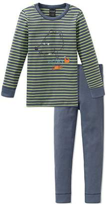 Schiesser Boy's Rat Henry Kn Suit Long Pajama Sets, Grey (Grau 200), (Manufacturer Size: 128)