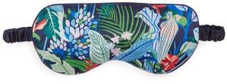 Derek Rose Brindisi 34 Silk Eye Mask - Womens - Navy Multi