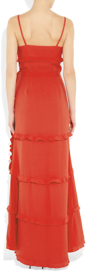 Moschino Cheap & Chic Moschino Cheap and Chic Ruffled silk-blend crepe gown