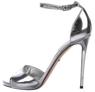 Dolce & Gabbana Metallic High-Heel Sandals