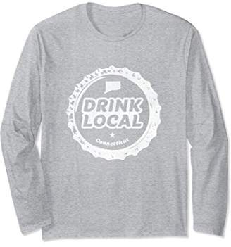 Distressed Drink Local Connecticut Beer Bottle Cap Shirt