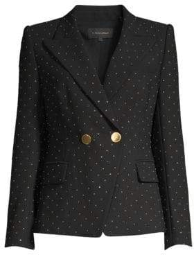 Alice + Olivia Kobi Halperin Nicole Stud Double-Breasted Jacket