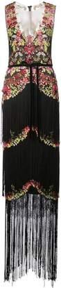 Marchesa embellished fringe gown