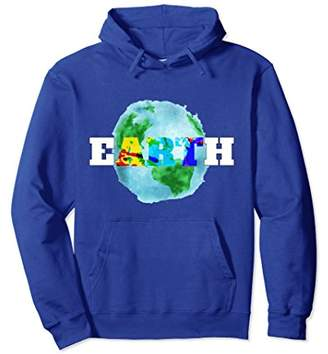 Earth Art Respect Nature Paint Splatter Hoodie