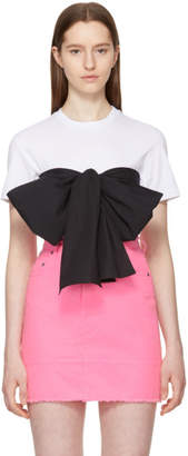 MSGM SSENSE Exclusive White Contrast Bow T-Shirt