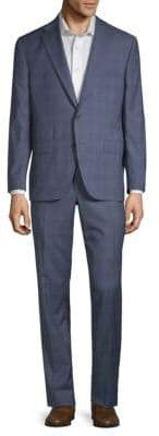 Jack Victor Esprit Plaid Wool Suit